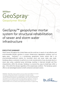 GeoSpray Mortar Brochure